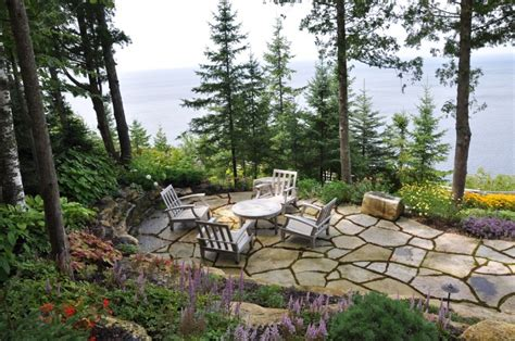 furniture landscape 54eb59d77b29a little house on the lake couch 25 great stone patio ideas for your home thefischerhouse