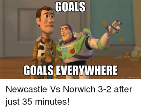 Goals Meme - goals goals everywhere quick meme com newcastle vs norwich