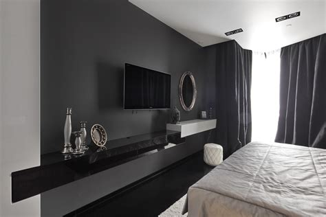 luxury wall mounted modern tv cabinets in black with glass black and white high gloss finish cabinet as tv stand