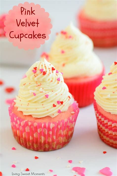 deliciously rich pink velvet cupcakes living sweet moments