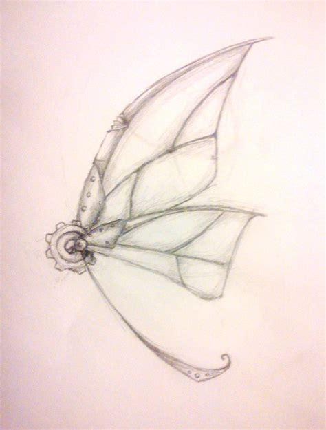 butterfly wings tattoo designs steunk butterfly wing ideas