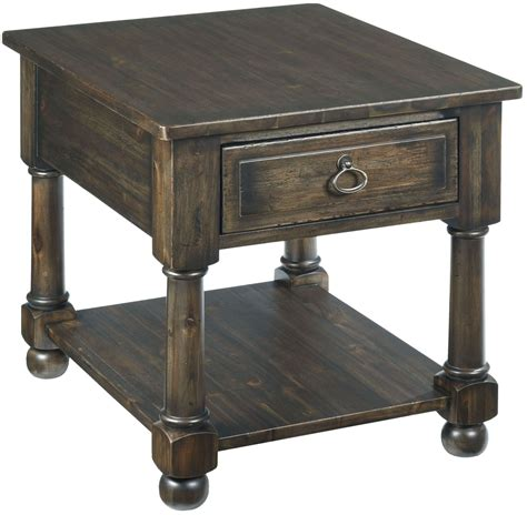Ember Table wildfire ember drawer end table from 86 022 coleman furniture