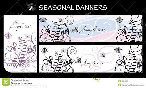 seasonal pattern en francais seasonal banners royalty free stock images image 9084809