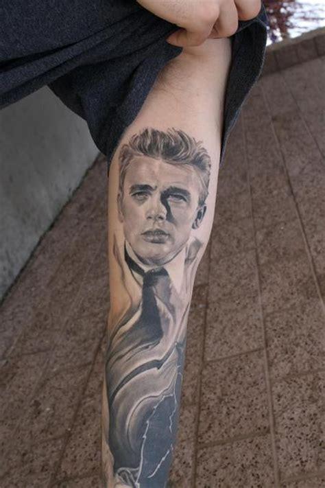 james dean tattoo the map realistic tattoos page 10