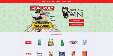 Monopoly Sweepstakes Vons - www playmonopoly us play albertsons monopoly 2016