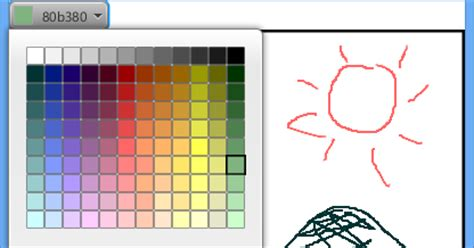 java buddy free draw on canvas with colorpicker