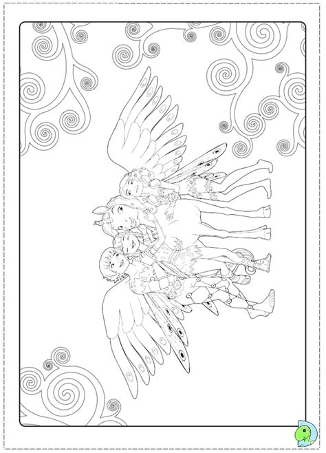 free coloring pages of mia and me lyria