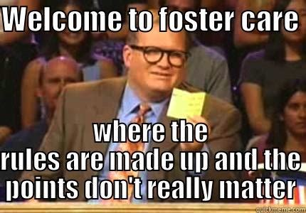 Meme Drew Carey - new foster parents prepping your tribe for your new life