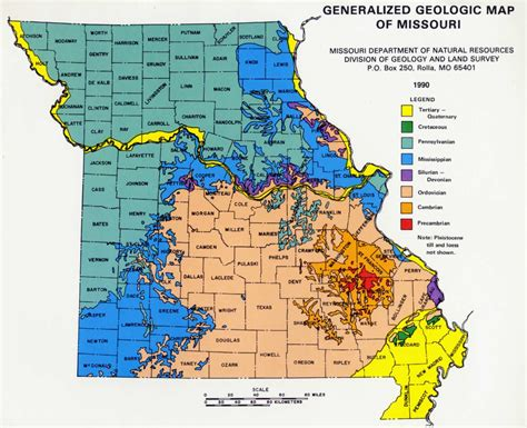 missouri map test geology of missouri ordovician