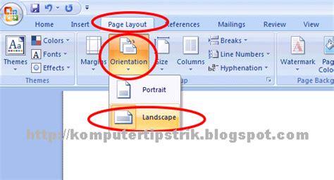 microsoft word landscape layout one page trik membuat page layout portrait dan landscape dalam satu
