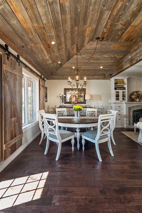 Whitewashed Brick & Reclaimed Barn Wood Shiplap Interiors