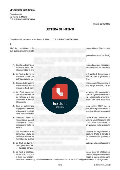 lettere di intenti lettera di intenti memorandum of understanding lexdo it