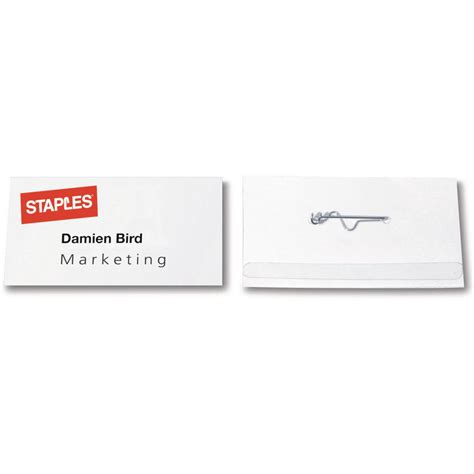printable name tags staples staples pin name badges 54 x 90mm package 50 each