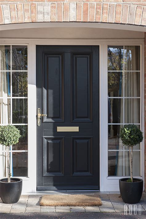 Black Front Door With Glass Great Black Front Door And Side Glass Panels Paint Doors And Glass Panels