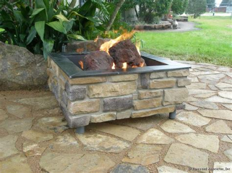 How To Build A Gas Firepit How To Build A Brick Pit With Gas Pit Design Ideas