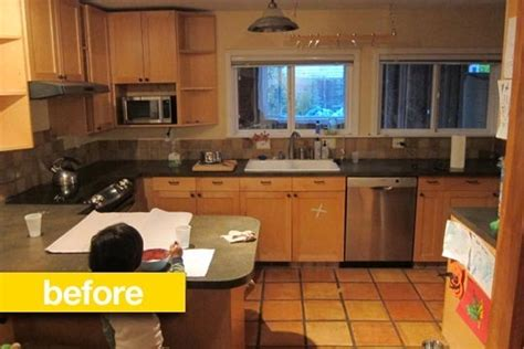 before and after a closed off kitchen opened up porch kitchen before after heejoo s open floor plan ikea