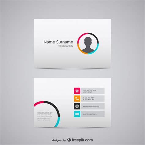 Free Business Card Vector Design Templates by 20 Free Business Card Design Templates From Freepik