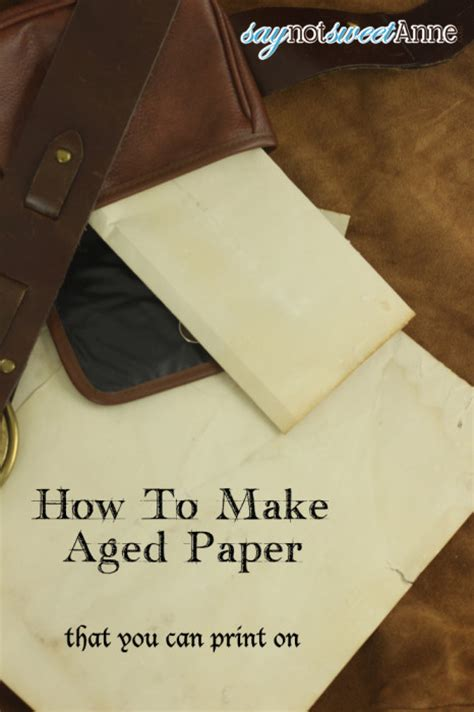 How To Make Printer Paper Look - someday crafts how to make aged paper