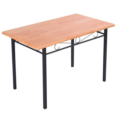 Durable Kitchen Tables Steel Frame Dining Table Kitchen Modern Furniture Bistro Home Durable Wood New Hw50130 In Dining
