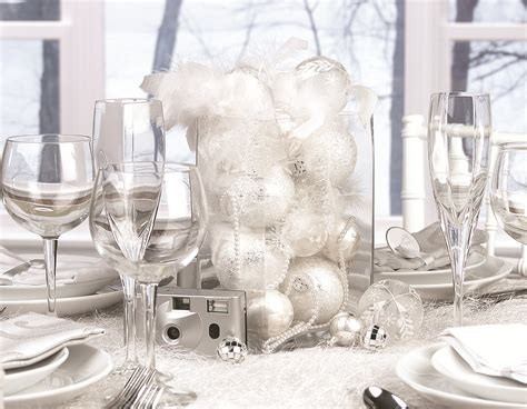 Silver Table Decorations by Warm Up To Winter White Winter White Holdiay