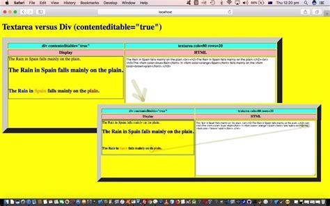 html textarea pattern html editing via div and textarea parsing tutorial