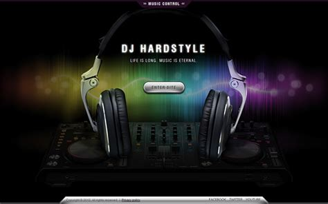 templates for dj website dj hard style music html5 template 300111454 on behance