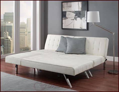 Futon Sectional Sofa Sofa Guest Sleeper Bed Sectional Faux Leather Futon Chaise Lounger Ebay