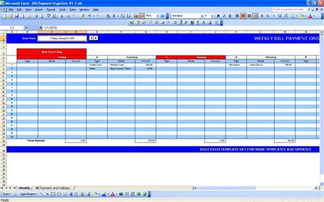 Excel Spreadsheet For Bills by Excel Spreadsheet For Monthly Bills Laobingkaisuo