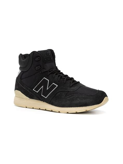 hi top sneakers new balance hi top sneakers in black lyst