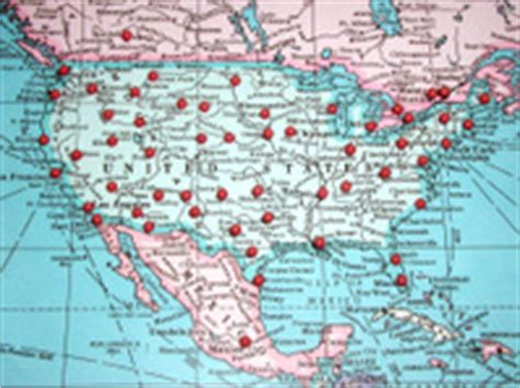 map usa pins travel map with push pins europe stock photos freeimages