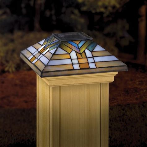 stained glass post light 51 best images about stained glass post caps on