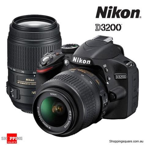 Nikon D3200 Vr Nikon D3200 Kit 18 55 Vr 55 300 Vr Lens Digital Slr Ds Shopping