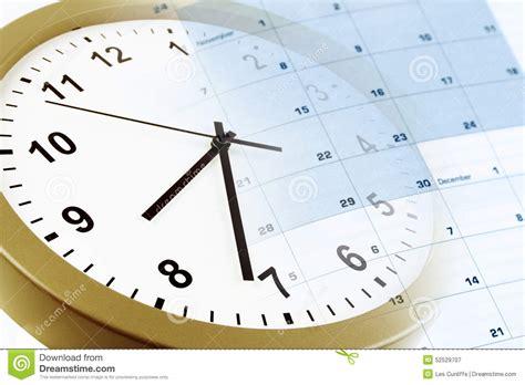 Faced Calendar by Clock And Calendar Stock Photo Image 52529707