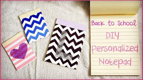 How To Make A Diy Diy Personalized Notepads How To Make Notepads Back To School 2013