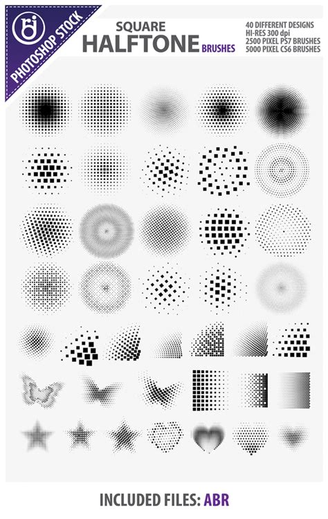 square pattern brush photoshop square halftone brushes by rjdezigns on deviantart
