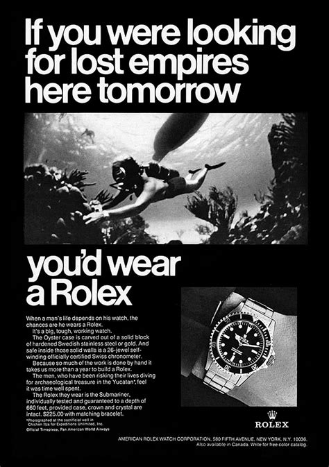 rolex print ads 1968 rolex submariner ad vintage rolex advertisements in