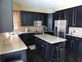 Dark Kitchen Cabinet Ideas navy blue is used to great effect in this kitchen as it balances