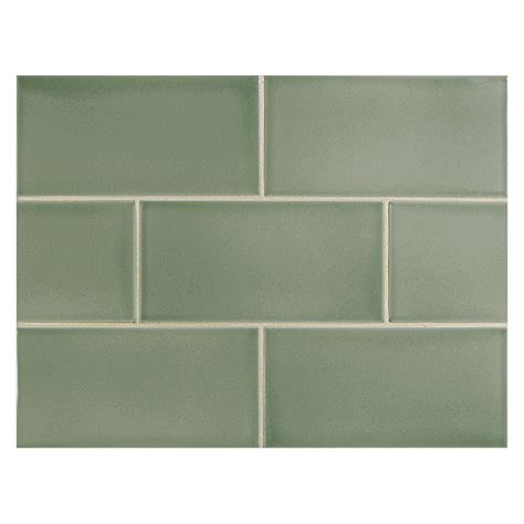 Trim For Backsplash - vermeere ceramic tile grey green gloss 3 quot x 6 quot subway tile