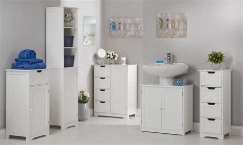 White Bathroom Furniture Range Groupon Goods Range Bathroom Furniture