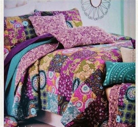 cynthia rowley bedding cynthia rowley full queen soledad purple pink teal blue green patchwork quilt spare