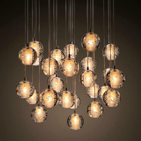 Aliexpress.com : Buy Ecolight Free Shipping Modern Led Pendant Light Transparent Crystal Globes