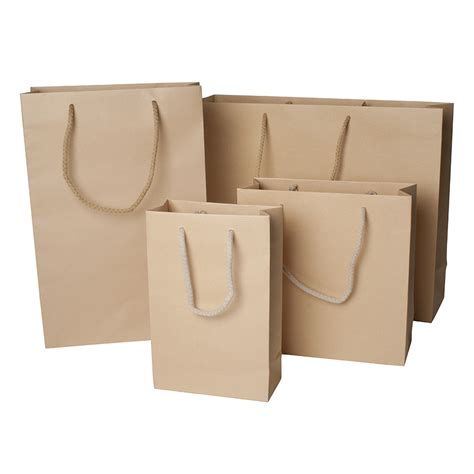 Paper Bags For - plain rope carrier bag barry packaging