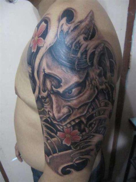 hannya mask tattoo cover up free hand hannya mask tattoo