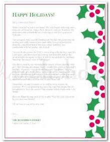 printable holly christmas letter template