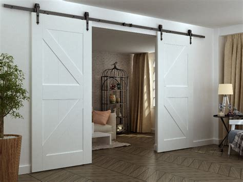 Aliexpress Com Buy Diyhd 12ft Arrow Wheel Double Sliding Interior Sliding Barn Door Kits