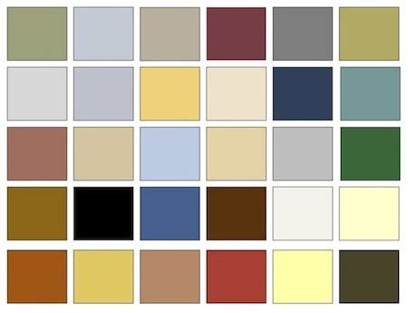 typical neoclassical color palette