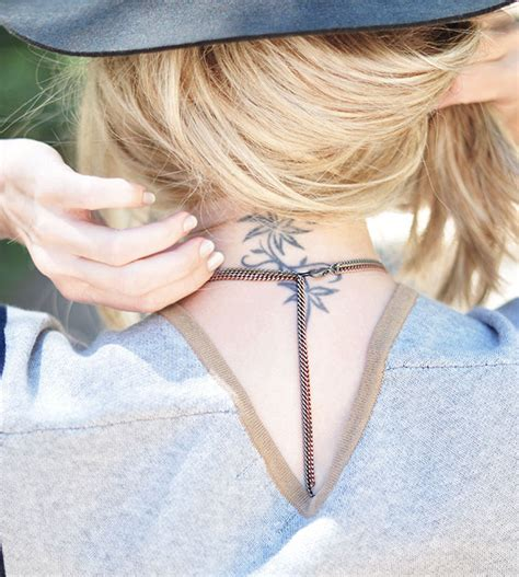tattoo neck choker diy diy long o ring double chain necklace love maegan