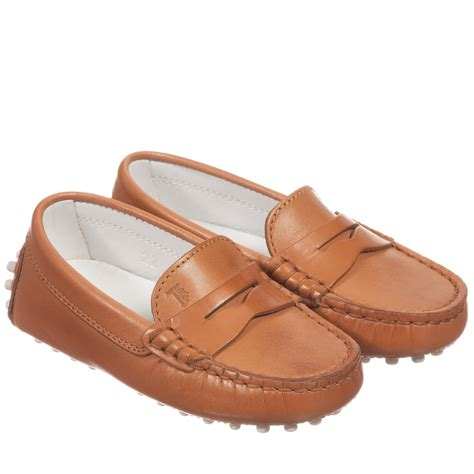 moccasins sneakers tod s brown leather moccasin shoes childrensalon