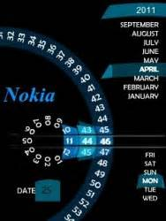clock themes for mobile phones download free scanner clock s40 mobile phone theme 1014