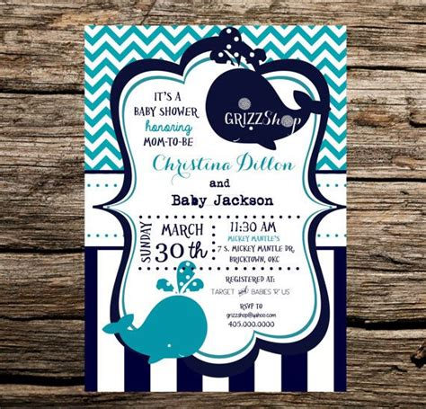 Blue Whale Baby Shower Invitations blue whale baby shower invitation shower invitations